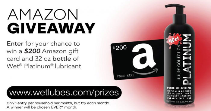 Trigg Laboratories Inc. Wet Lubes $200 Amazon Giveaway (Monthly Winners)