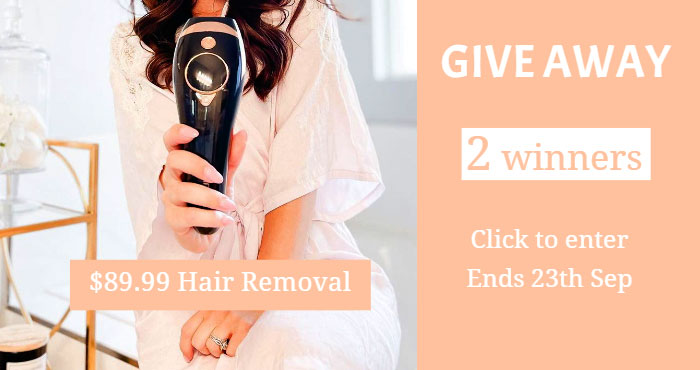 INNZA IPL Hair Removal Device Giveaway