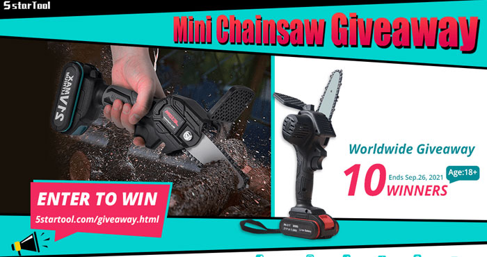 5STARTOOL Mini Chainsaw with Battery Giveaway