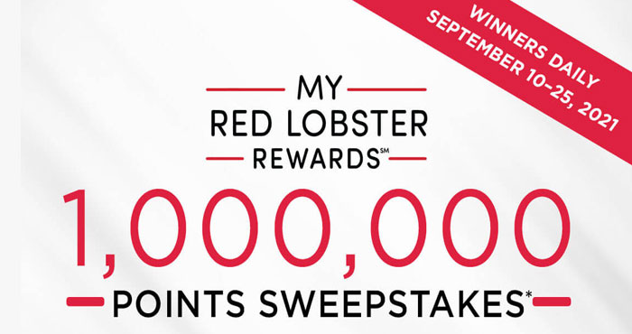 Every day from September 10–25, Red Lobster is giving My Red Lobster Rewards members a chance to WIN 500 or even 1,000 bonus points! You could be enjoying fresh favorites, delicious monthly reward options, and more.