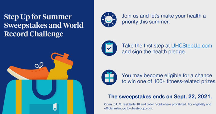 United Healthcare Step Up for Summer Sweepstakes