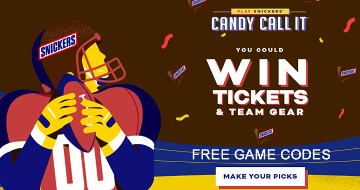 Mars Wrigley Candy Call It NFL Sweepstakes (Free Codes)