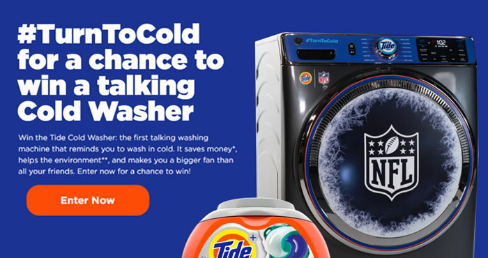 Win a Brand New Washing Machine from Tide