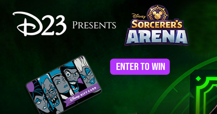 Disney Sorcerer's Arena Maleficent Sweepstakes