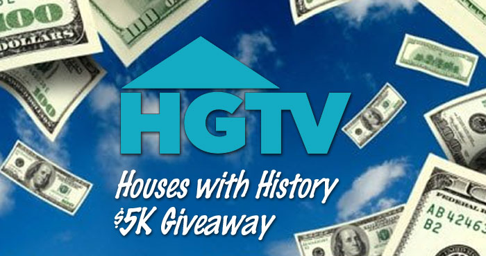 Watch HGTV's Houses with History on Wednesday, September 29 at 9 8c and look for a special code to enter the sweepstakes. A new code will be revealed weekly, giving you more chances to win!
