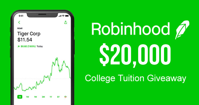 Robinhood's $20,000 College Tuition Giveaway
