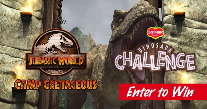 Play the Del Monte Jurassic World Camp Cretaceous Challenge game for your chance to win a trip to Universal Orlando Resort in Florida. Start your journey through Jurassic World! Bananas are rich in potassium which is important when there's a velociraptor chasing you! ScanDel Monte® product and play DinosaurChallengeto experience a fun adventure