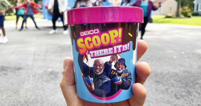 """325 WINNERS! Enter for your chance to win FREE ice cream from @GEICO. Submit your """"Scoop, There It Is"""" dance video on TikTok or Instagram for a chance to win a pint."""