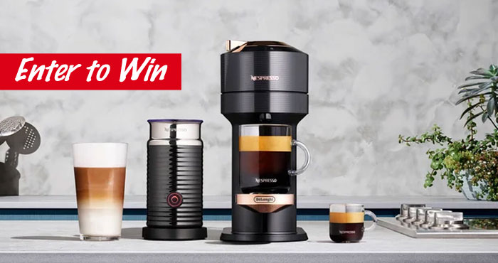 Celebrate #NationalCoffeeDay with Nespresso and Bed, Bath and Beyond! Comment with your favorite time of day to have a cup of coffee to be entered for a chance to win a Nespresso Vertuo Next Premium Coffee & Espresso Maker by De'Longhi.