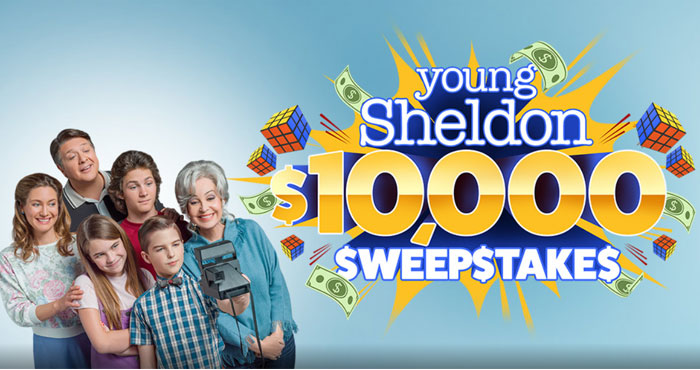 Young Sheldon $10,000 Sweepstakes (Word of the Day)
