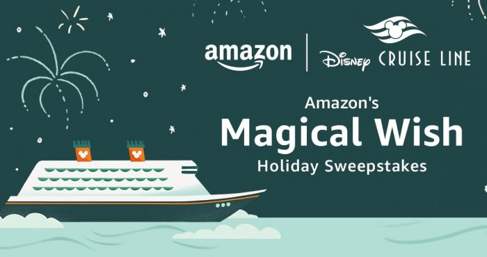 Enter Amazon's Magical Wish Holiday Sweepstakes for your chance to win a dream Disney Cruise Line vacation for summer of 2022. The winner will be one of the first to enjoy a 3-night Bahamian cruise from Port Canaveral, Florida, aboard the all-new #Disney Wish, plus a 2-night stay at the Walt Disney World Resort near Orlando, Florida.