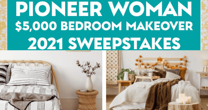 Pioneer Woman $5,000 Bedroom Makeover Sweepstakes