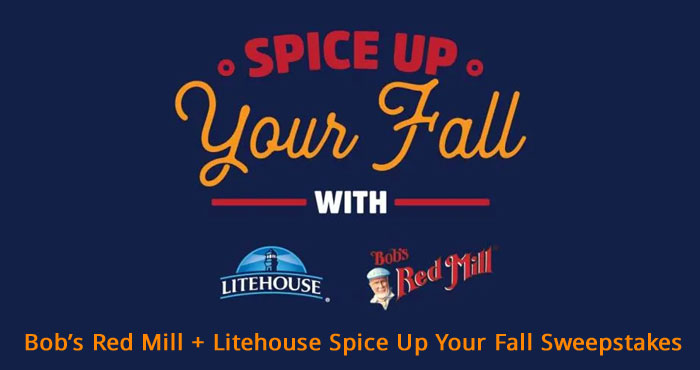 Bob's Red Mill & Litehouse Spice Up Your Fall Sweepstakes