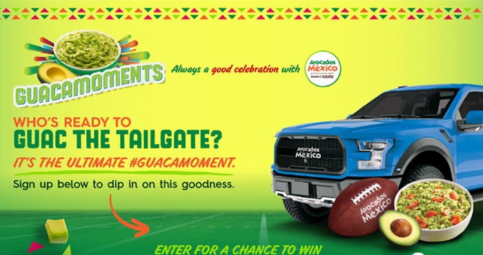 Avocados from Mexico Guac The Tailgate $500,000 Sweepstakes