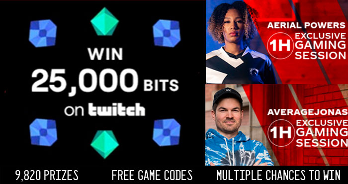 Enter Coca-Cola codes to play the Coca-Cola Real Magic Instant Win Game for a chance to win free #Twitch bits and be entered to participate in a private streaming session with Aerial Powers or AverageJonas. You will also be automatically entered into the Real Magic sweepstakes for your chance to win a trip to attend the 2022 FIFA World Cup in Qatar or the 2022 League of Legends World Championships.