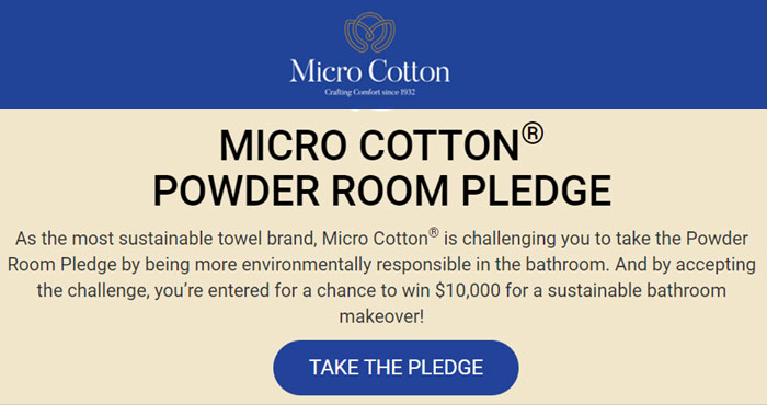 Win a $10,000 Sustainable Bathroom Makeover from Micro Cotton