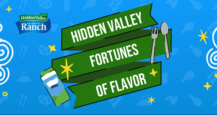 Hidden Valley Ranchology Fortunes of Flavor Instant Win Game (560 Prizes)