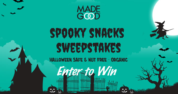 669 WINNERS! Enter for your chance to win! MadeGood has $5,000 in prizes up for grabs in their Halloween Sweepstakes.