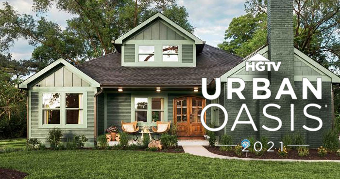 The 2021 HGTV Urban Oasis Sweepstakes is live and you have 2 dailies chance to win this amazing house. Located in Indianapolis, Indiana, this bold remodeled escape is valued at over $650,000 and the grand prize also includes a a check for $50,000! The home's original chimney for the living room fireplace was refurbished and repainted to coordinate with the rest of this property's well-detailed transformation.
