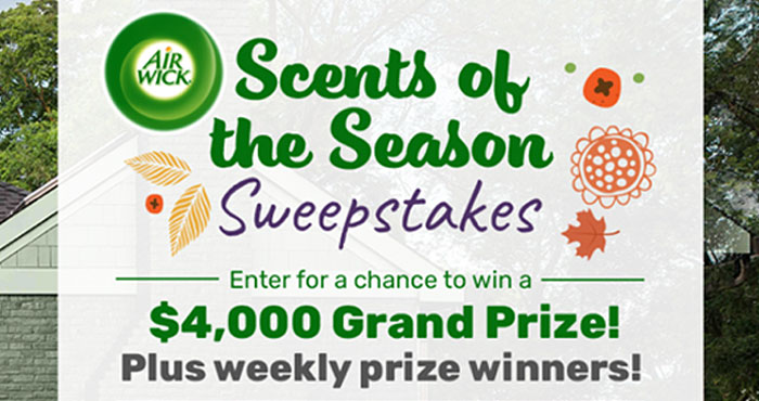 Enter the TLC Scents of the Season Sweepstakes daily for your chance to win a $4,000 grand prize or one of the weekly Air Wick Gift Basket prizes. Then make sure you enter the The TLC HGTV Urban Oasis Sweepstakes up to two times daily