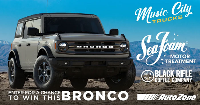 Enter to win a New Ford Bronco